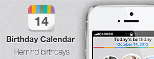 Birthday Calendar : Wish list